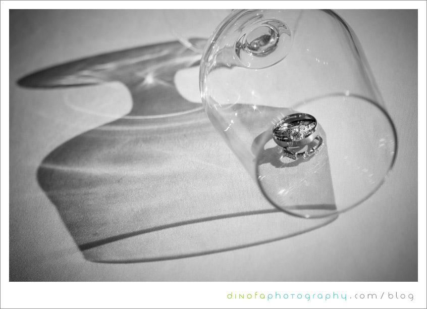 Ring shot in glass