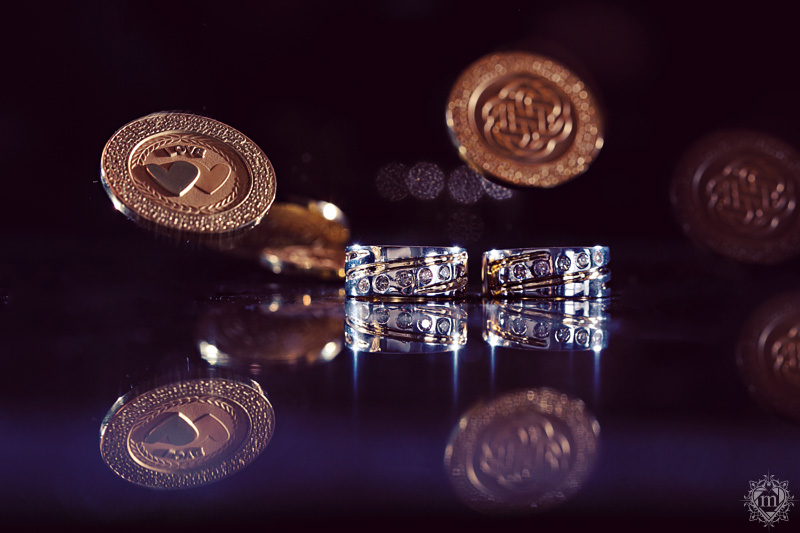 wedding ring with button