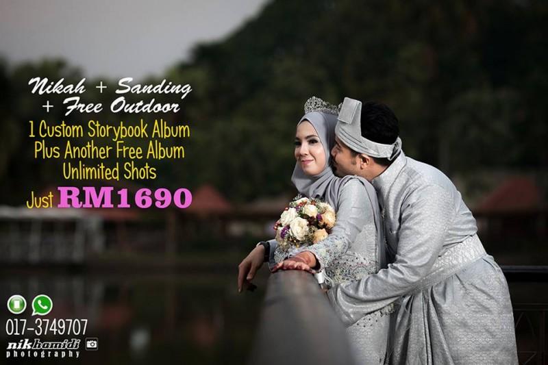 Pakej Fotografi Perkahwinan Murah 2016